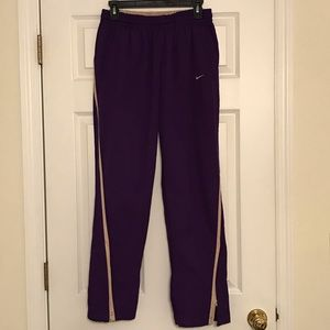 Nike Team Purple and Gold Pants Size Small